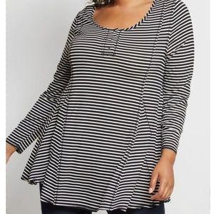 Modcloth | Au Fond Striped Long Sleeve Tunic